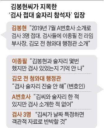 김봉현씨가 지목한 '검사 접대 술자리 참석자' 입장
