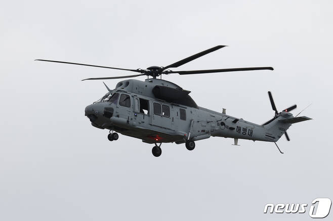 해병대가 운용하는 국산 상륙기동헬기 마린온. 군 당국은 2026년부터 전력화될 상륙공격헬기로 마린온 무장형을 개발하는 방안을 추진하고 있다. © News1