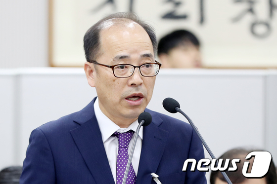 지난 20일 열린 국정감사에서 '공공의료대학 신설 반대' 발언을 해 지역 사회로부터 비난을 받고 있는 조남천 전북대병원장.2020.10.28 /© 뉴스1