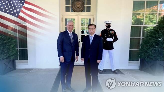 서훈 안보실장 첫 방미…오브라이언·폼페이오 면담 (CG) [연합뉴스TV 제공]