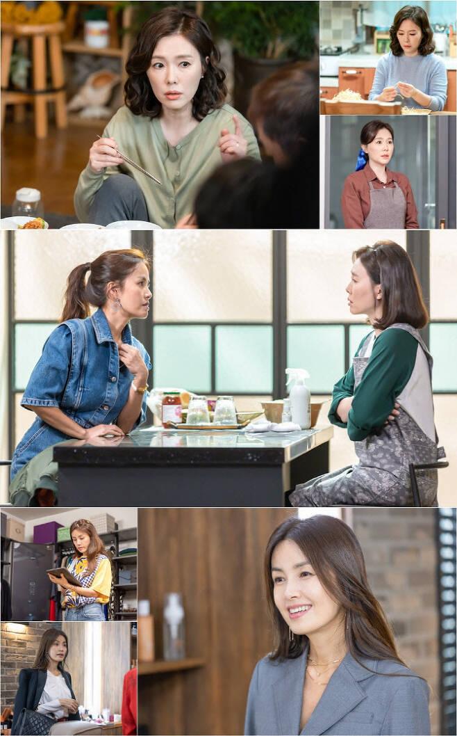 '청춘기록'에서 만난 신애라, 하희라(사진=tvN)