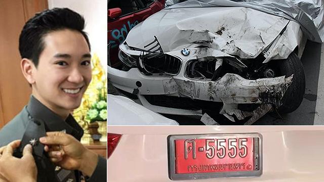 가해운전자 아라카윈은 재벌 2세면서 현직 경찰 간부다. 사고로 크게 부서진 그의 BMW차량,태국 부유층들은 비싼 자동차 번호판을 직접 구입한다.