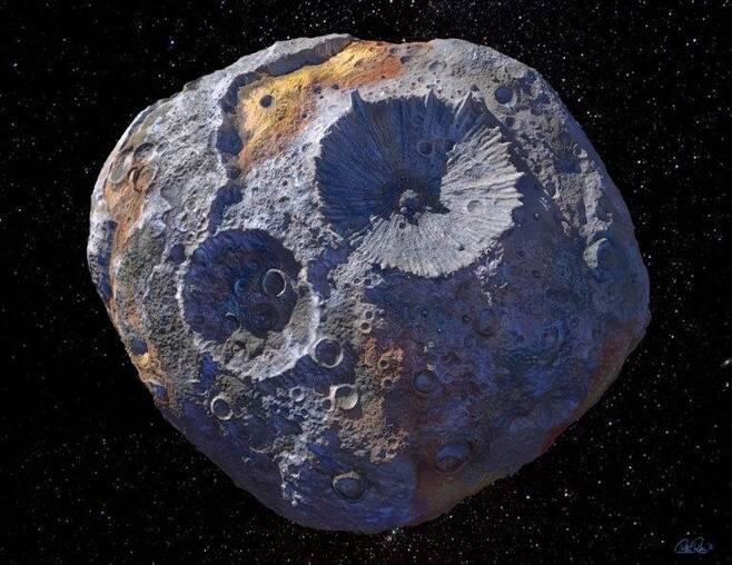 광물 소행성 '16 사이키' [NASA 홈페이지 캡처·'MAXAR/ASU/P.RUBIN/NASA/JPL-CALTECH' 제공·재판매 및 DB 금지]