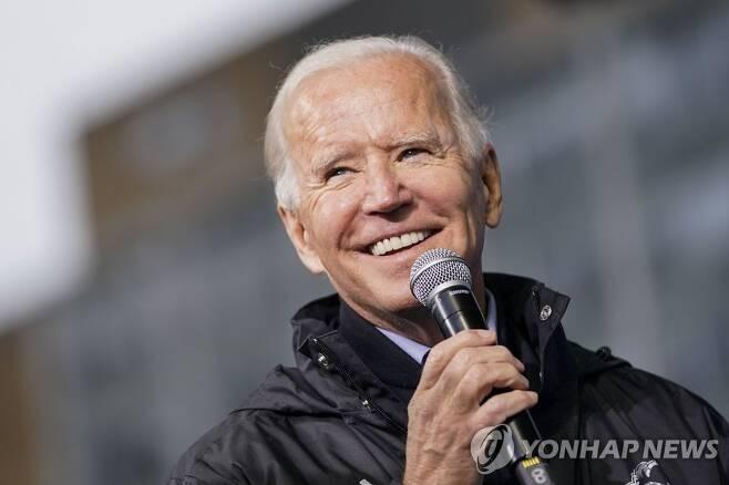 필라델피아 유세하는 바이든 후보 [AFP/게티이미지=연합뉴스]