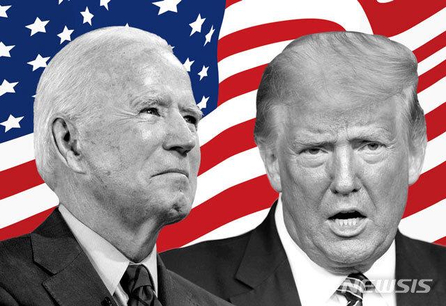 [서울=뉴시스]조 바이든 미국 민주당 대선 후보(왼쪽)과 도널드 트럼프 미 대통령.