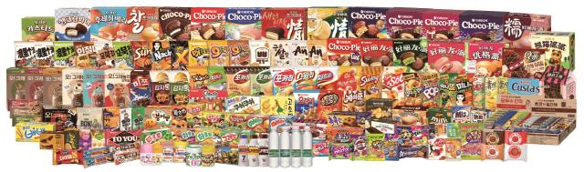 오리온 글로벌 제품.