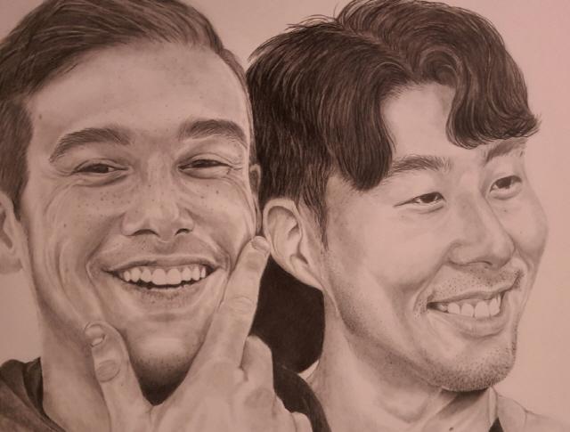 윙스와 손흥민    캡처=아만다 SNS