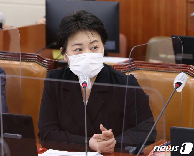 윤희숙 국민의힘 의원.  © News1 신웅수 기자
