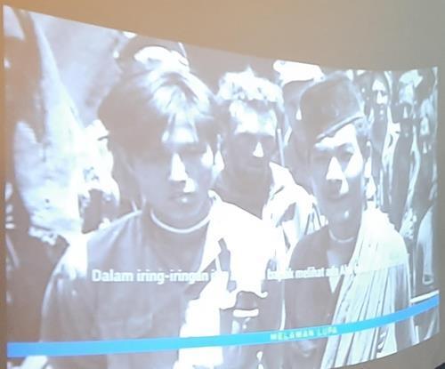 양칠성(좌)의 모습이 담긴 다큐멘터리 [자카르타=연합뉴스]
