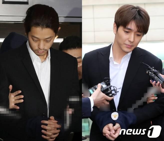 정준영(왼쪽), 최종훈 © 뉴스1