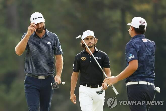 왼쪽부터 존슨, 안세르, 임성재 [AFP=연합뉴스]