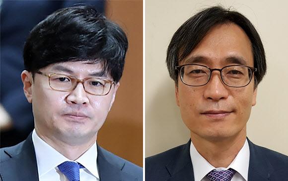 한동훈(왼쪽) 검사장과 정진웅(오른쪽) 차장검사. 연합뉴스