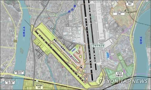 김해신공항 계획도 [부산시 제공. 재판매 및 DB 금지]