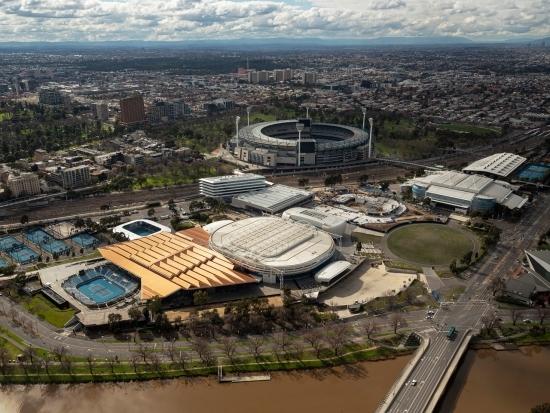 호주오픈 경기장 전경