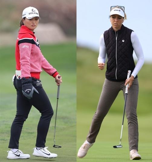 2020년 미국여자프로골프(LPGA) 투어 펠리컨 위민스 챔피언십에 출전한 고진영 프로(사진제공=KLPGA). 소피아 포포프(사진제공=R&A via Getty Images)