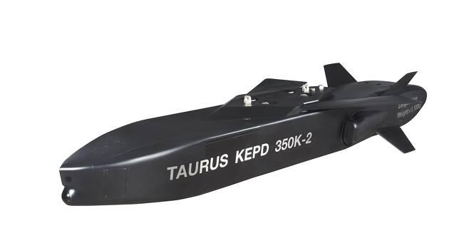 차세대 장거리 공대미사일 '타우러스 350K-2' 모형 [타우러스 시스템즈 제공. 재판매 및 DB 금지]