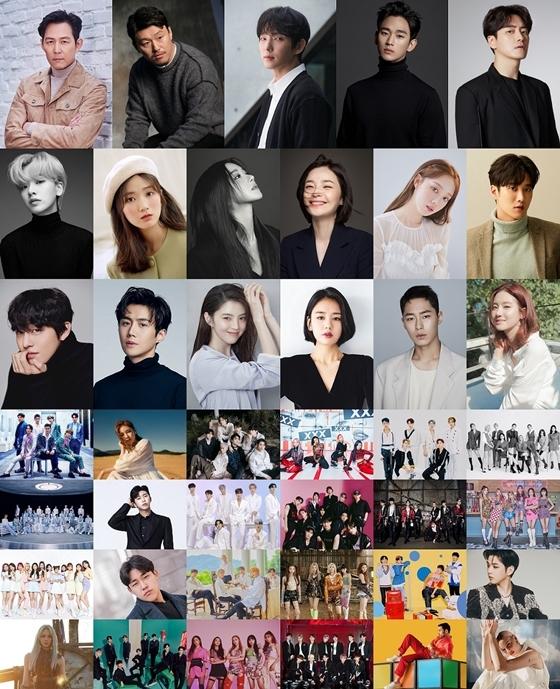 2020 Asia Artist Awards(아시아 아티스트 어워즈, AAA) 참석 배우, 가수들