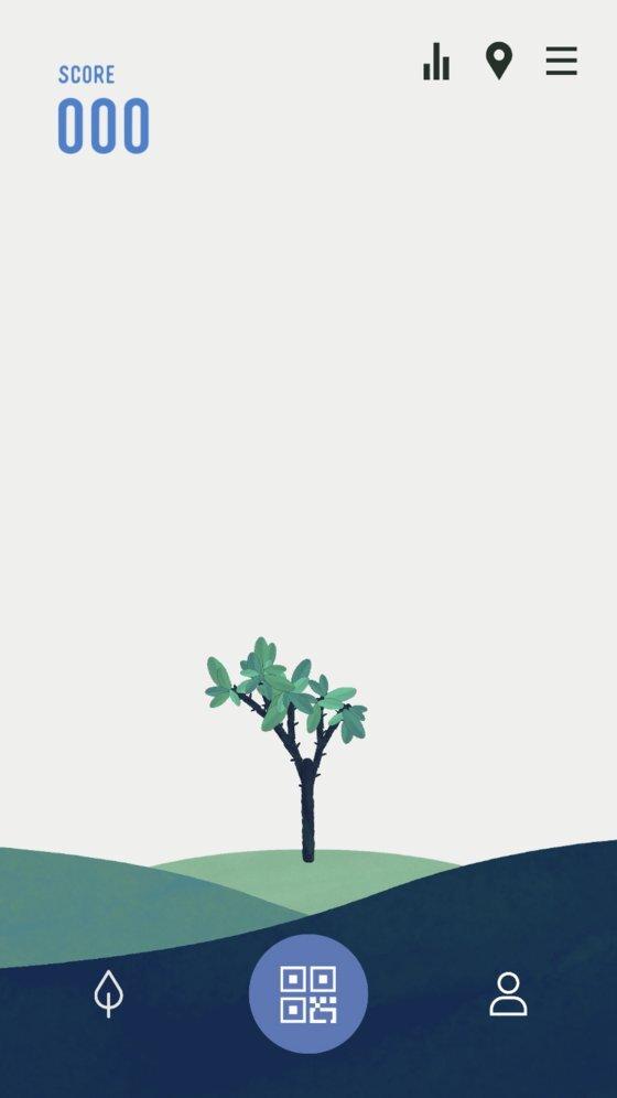 포인트가 적립될수록 앱 안에서 나무가 자란다. 추후 할인이나 프로모션 등 사용자에게 실제적인 이익이 갈 수 있도록 프로그램도 구상하고 있다. 사진 유어보틀위크