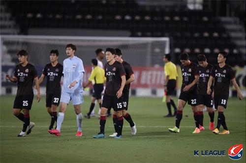 FC 서울은 27일(현지시간) 열린 2020 AFC 챔피언스리그 조별리그 E조 4차전에서 치앙라이 유나이티드에 1-2로 졌다.사진=한국프로축구연맹 제공