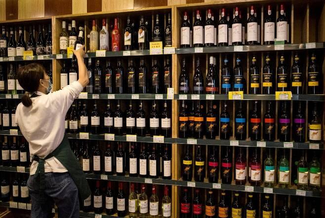 호주산 와인들 /사진=AFP