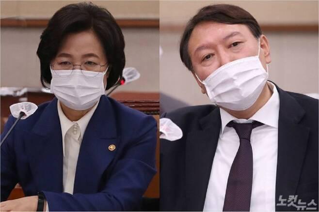 추미애 법무부장관, 윤석열 검찰총장(사진=자료사진)