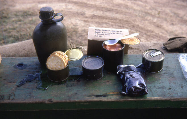 베트남 전쟁 당시 미군이 먹었던 MCI 전투식량. 위키피디아