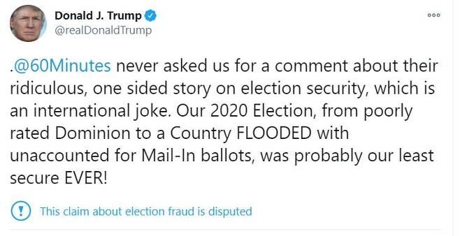 트럼프 대통령 트위터 발췌