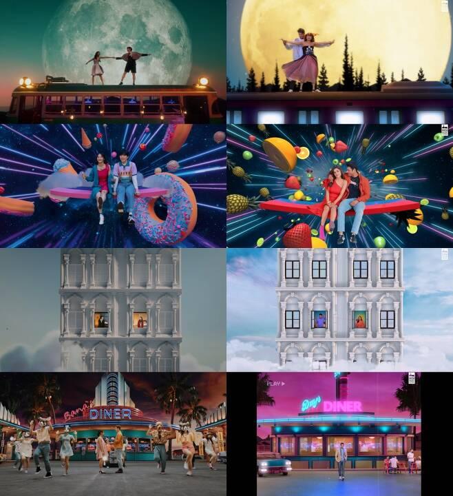 ▲ B1A4 '영화처럼' 뮤직비디오(왼쪽)와 B1A4를 표절한 인도 가수의 '숀나 숀나' 뮤직비디오. 출처| 각 뮤직비디오 캡처