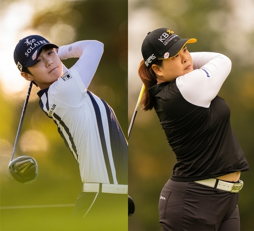 2020년 미국여자프로골프(LPGA) 투어 볼런티어스 오브 아메리카 클래식에 출전한 박성현, 박인비 프로. 사진제공=Darren Carroll_PGA of America