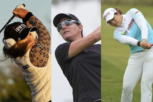 미국여자프로골프(LPGA) 투어 메이저대회 US여자오픈 역대 우승자인 이정은6, 아리야 주타누간(사진제공=Getty Images). 브리트니 랭(사진제공=PGA of America)
