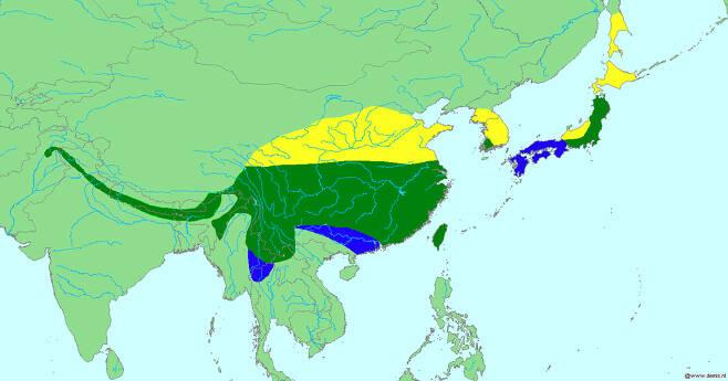 섬참새가 분포하는 지역을 나타낸 지도.(사진=Sabine's Sunbird, CC BY-SA 3.0 , via Wikimedia Commons)