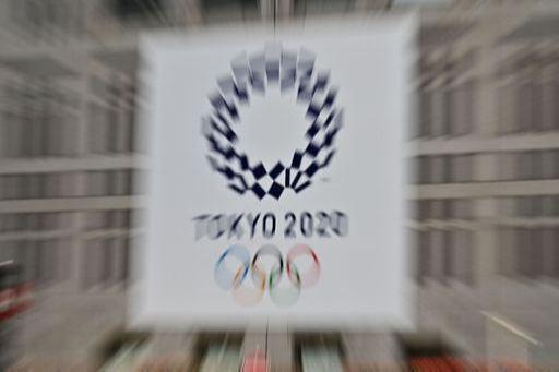 신종 코로나 바이러스 감염증(코로나19) 사태로 1년 후로 연기된 2020년 일본 도쿄 올림픽의 로고. 도쿄=AP연합뉴스