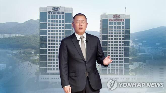 정의선, 현대차그룹 회장 오른다…20년만에 총수 교체 (CG) [연합뉴스TV 제공]