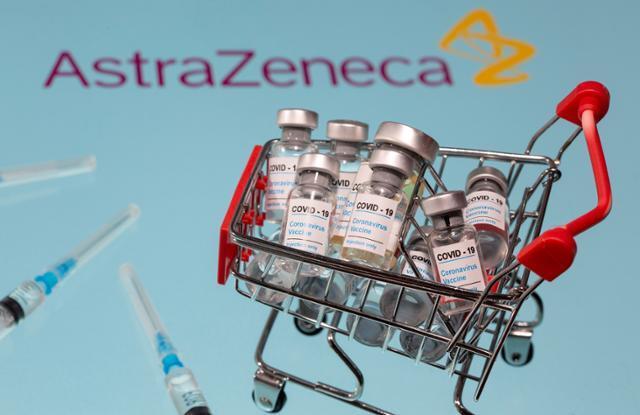 정부가 구매하게 될 글로벌 제약사 아스타라제네카의 코로나19 백신의 일러스트. 로이터 자료사진