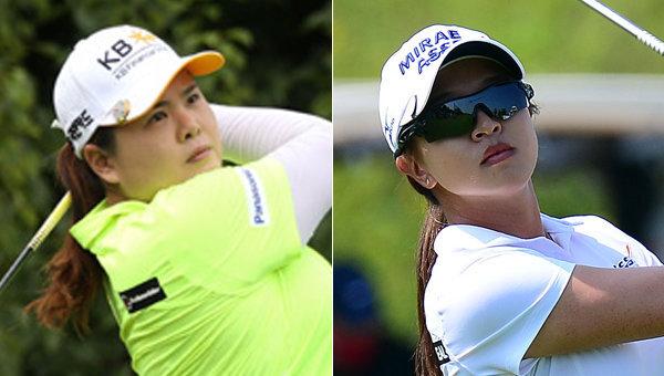 박인비(왼쪽)-김세영. 사진제공|스포츠동아DB, KLPGA