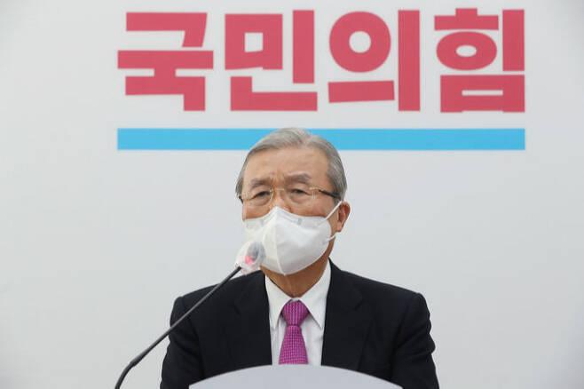 김종인 국민의힘 비상대책위원장. 뉴스1