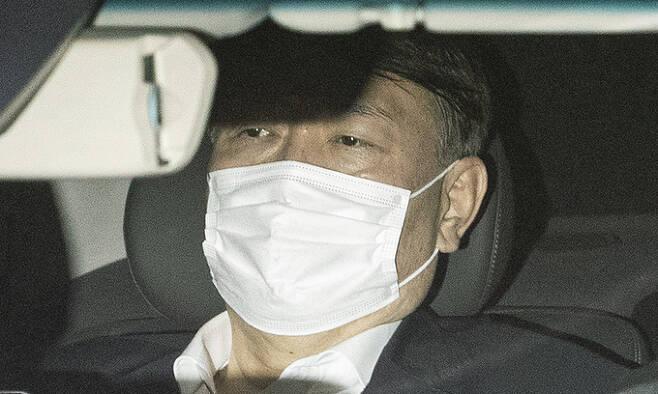 징계위가 열린 지난 15일 퇴근하는 윤석열 검찰총장의 모습. 뉴스1