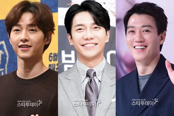 송중기, 이승기, 김래원(왼쪽부터)이 2021년 안방극장에 돌아온다. 사진|스타투데이DB
