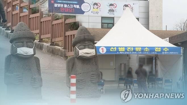제주 확진자 연일 최대 '비상' (CG) [연합뉴스TV 제공]