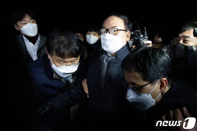 정한중 검사징계위원장 직무대리(한국외대 법학전문대학원 교수). 2020.12.16/뉴스1 © News1 유승관 기자