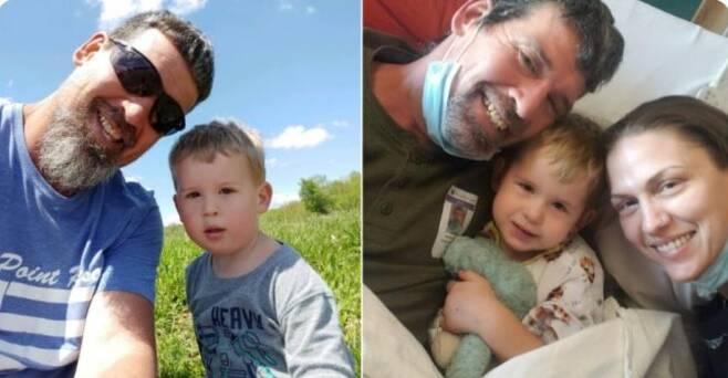 코로나 확진 뒤 뇌졸중 증세로 수술을 받은 3살 아이와 부모 [트위터 캡처·재판매 및 DB 금지]