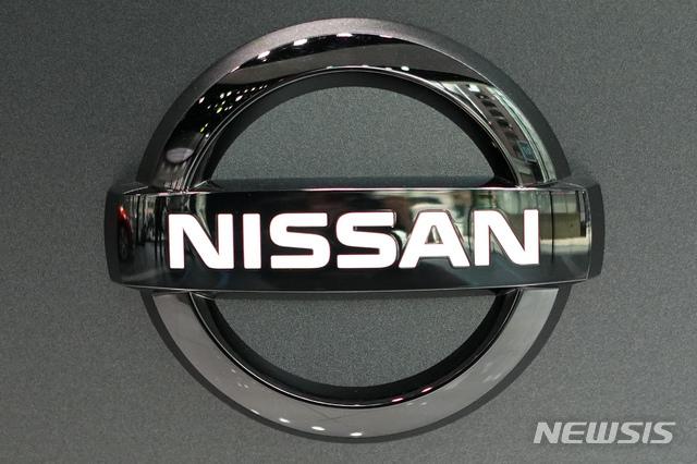 【도쿄=AP/뉴시스】일본 도쿄의 닛산자동차 전시장에 닛산의 로고가 보이고 있다. 2019.7.25