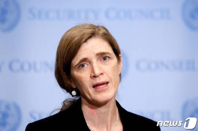 서맨사 파워 전 유엔주재 미국 대사. © 로이터=뉴스1