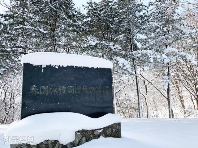추암마을에서 금곡마을로 이어지는 산등성이에 '춘원 임종국 조림공적비'가 세워져 있다.