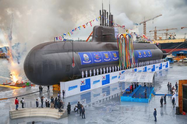 3,000t급 잠수함인 도산안창호함 진수식. 연합뉴스