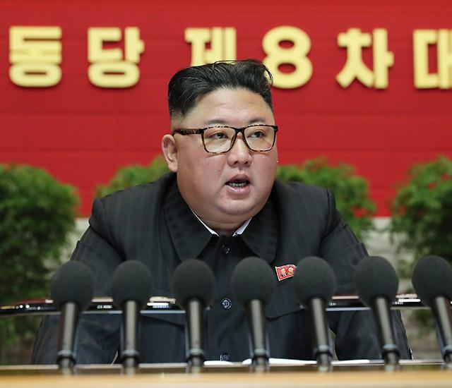 ▲ 9일 북한 당 기관지 <로동신문>은 지난 5~7일 8차 당 대회 기간 동안 김정은 국무위원장이 보고한 사업 총화 내용을 보도했다. ⓒ로동신문