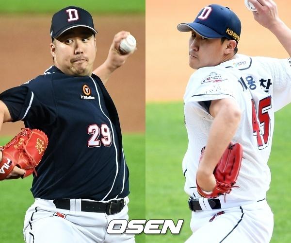 [사진] 유희관(좌)-이용찬(우) / OSEN DB