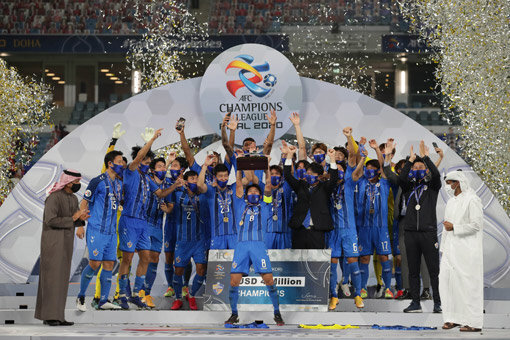 카타르에서 열린 2020 AFC챔피언리그 우승한 울산 현대. 사진제공|한국프로축구연맹