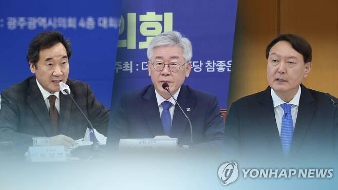 이낙연·이재명·윤석열 '3강구도'?…대권행보 잰걸음 (CG) [연합뉴스TV 제공]