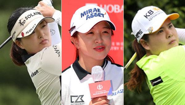 고진영-김세영-박인비(왼쪽부터). 사진제공|KLPGA